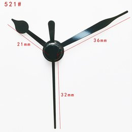 Wholesale Aluminum Clocks - 100sets Skp Shaft Clock Hand 521 #Quartz Clock Accessory Black Short Hands Metal Aluminum Material High Quality Diy Clock Kits