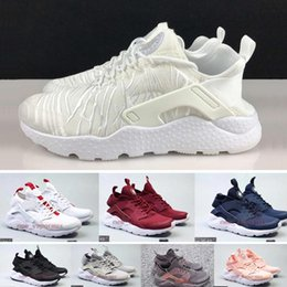 Wholesale Breathe Light - New Huarache Breathe ultra running shoes fashion designer mens womens white brown trainers huaraches run 4 sneakers sports shoes us5.5-11