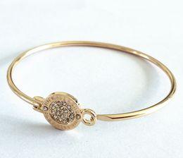 Wholesale Gold K Charm - New York Fashion Brand M&K Tone Bangles round charm Bracelets silver gold rose gold colours fashion jewelry for women