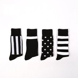 Wholesale- (4Pairs)High Quality Fashion Harajuku Socks Men Colorful Casual Cotton Men Socks Male  Happy Socks Men Dress Business Sock от Поставщики фирменные платья оптом