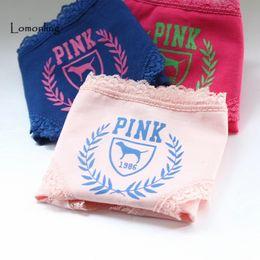 Wholesale Simple Underwear Briefs - Lomonling simple selling letter lace Vs ladies underwear letter low waist style 3 colors Micro Panty Briefs M L