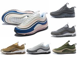 Wholesale heavy cotton canvas fabric - 97 Ultra 1 UL 17 SE LX Sport Running Shoes Men 97s OG Six heavy color matching Bullet trainer Jogging Sneakers 40-46