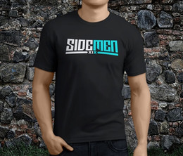 Heißes schwarzes männer tshirt online-Einfarbig Rundhalsausschnitt Grafik Neue Heiße Beliebte Sidemen Xix Rockstar Musik Schwarz Herren T-shirt S 3xl Kurzarm T-shirts Für Männer
