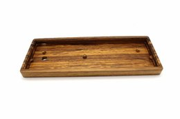 Wholesale wooden keyboards - GH60 Solid Wooden Case Wrist Rest PCB Plate Hand Wire For 60% Mini Mechanical Gaming Keyboard Compatible Poker2 Faceu 60