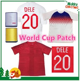 Wholesale Men White Suit Shirts - 2018 World Cup sports home away polo Jersey 7 WALCOTT 9 KANE 10 Rooney STERLING football Shirts 17 18 DELE soccer Training suit jerseys