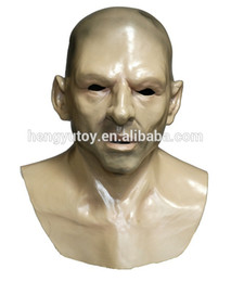 stags head Coupons - Realistic Fancy Dress Stag Party Latex Human Hard Man Slicone Bald Head Mask