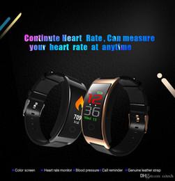 relojes de colores a prueba de agua Rebajas 2018 CK11C Banda inteligente impermeable Pantalla colorida Monitor de ritmo cardíaco Pulsera Presión arterial Gimnasio Rastreador Smartband Reloj deportivo Pulsera