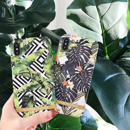 Wholesale Banana Phone Iphone Case - Tropical Plants Banana tree hard PC plastic Phone shell cases cover For iPhone 6 6S 7 8 plus X Coque Capa