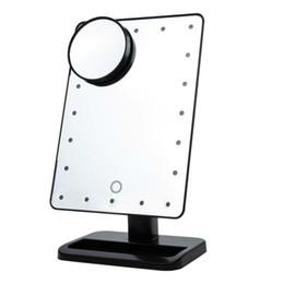 Wholesale Specchio da trucco regolabile da LED Touch Screen Specchio Touch Screen portatile Ingrandimento Vanity Lampada da tavolo Specchio cosmetico Make Up Tool