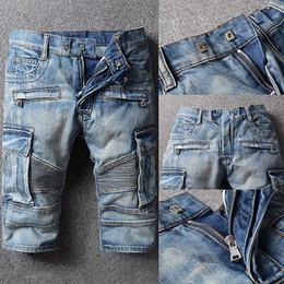 Wholesale Men Skinny Leg Jeans - 2017 Men'S Shorts Straight Leg Trousers Slim Fit Casual Denim Skinny New Hot Casual Jeans Shorts