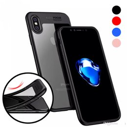 Wholesale Hybrid Slim - For iphone x case iphone 8 7 6 6s plus luxury phone case Clear Slim Back with Shockproof Bumper PC TPU Hybrid Case