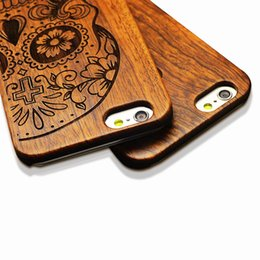 Wholesale Iphone 5s Covers Wood - 3 Retro Nature Embossed engraved Wood Phone Cases For iPhone 5 5s SE Funda Novel Carving Wooden Case PC Cover Hard Shell Capa