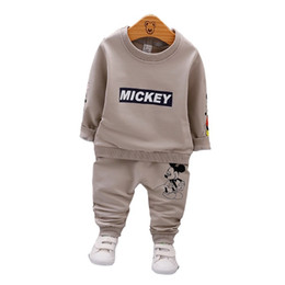 pants t shirt boy child Promo Codes - Clearance Spring Autumn Baby Boys Clothes Full Sleeve T-shirt And Pants 2pcs Cotton Suits Children Clothing Sets Toddler Brand Tracksuits