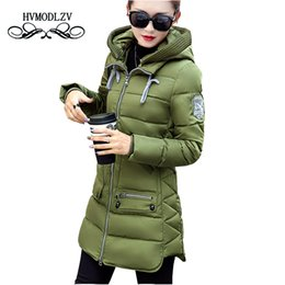 Wholesale Ladies Down Coat Medium - Winter Jacket Coat Women 2017 New Hot Style Hooded Slim Medium Long Plus Size Down cotton Parkas Lady Top female Coats 7XL lj540