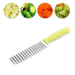Couteau ondulé de pommes de terre de pommes de terre de frites de pommes de terre en acier inoxydable français de couteau de frites ? partir de fabricateur