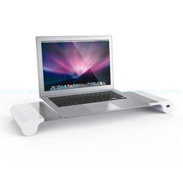 2019 portatili imac Del supporto monitor barra spaziatrice Laptop Stand Riser con ricarica 4 porte USB per iMac Mac Book Pro Mac Book Air Free Shipping sconti portatili imac