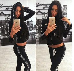 Wholesale womens tracksuits sale - new Hot Sale pink Women's Tracksuits spring style sweat shirt Print tracksuit women Long Pants Pullover Tops Womens set Women Sport