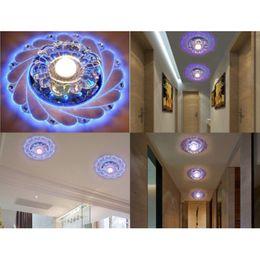 2019 проектирование освещения коридора Новый дизайн Современный коридор зеркало потолочный светильник проход веранда освещение вниз Кристалл поверхности установлены светодиодные потолочные светильники скидка проектирование освещения коридора