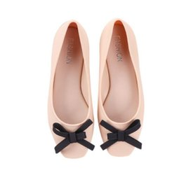 Wholesale Jelly Shoes Laces - Women pointed Flats Top Quality cute fashion Brand Ladies Classic Simple Luxury Jelly rain boots waterproof shoes soft cute Sexy Flats