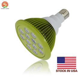 Wholesale Red Led Bulb E27 - E27 E26 PAR38 LED Bulb Grow Lamp 12W LED Plant Light Lamp Hydroponic Grow Light Bulbs Flower Garden Greenhouse + Stock In US