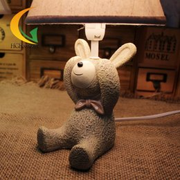 Wholesale Brush Ornaments - free shipping grocery looking at the small animal bunny bedroom nightstand table lamps ornaments to send girlfriend