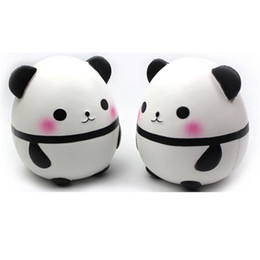 Wholesale Egg Squishy - Panda egg Squishy Jumbo Cute Panda Kawaii Cream Scented Kids Toys Doll Gift Fun Collection Stress Relief Toy Hop Props