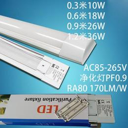 panel de tubo de luz led Rebajas 10 Unids / lote Nuevo 36w 48 Pulgadas Led Luces de Purificación Luces de Panel de Techo Lámpara de rejilla Reemplace 4FT 120cm T5 T8 tubo de luz