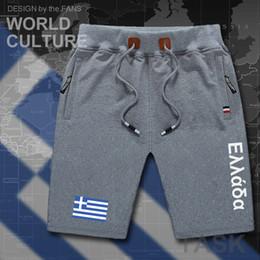 vêtements grecs Promotion Grèce hommes shorts plage nouveaux hommes shorts de conseil drapeau d'entraînement poche zippée sweat bodybuilding vêtements de coton marque de la marque The Greek GR