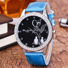 leather bracelet women wrist watches Australia - Lovers Watch Quartz Dial Diamond Leather Analog Wrist Watch Round Case bracelet for women luxury brand relojes