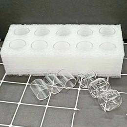 2019 streben starter kits Ecig Klarglasschlauch für Aspire Pockex Starter Kit 2ml Tank Zerstäuber Bulb Fat Boy Convex Erweiterte E Cig Pyrex Glasschaum Verpackung günstig streben starter kits
