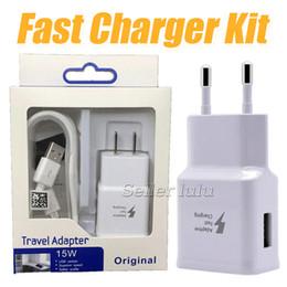 Cargador de pared para el hogar au plug online-A +++ 9V1.67A 5V 2A Juegos de adaptador de cargador de pared para el hogar Carga rápida Carga rápida 2 en 1 UE Adaptador de enchufe de EE. UU. + Cable USB 2.0 Cable de sincronización de datos
