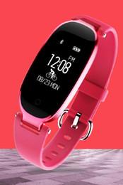 Bluetooth Armband Elegante Herzfrequenz damenmode Sport Wasserdichte Tragen Schrittzähler Gesundheit Smart Armband Fitness Tracker von Fabrikanten