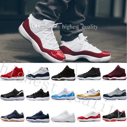 Wholesale Sapphire Cutting - Cheap New Released 11 Men Women Basketball Shoes 11s Blue Sapphire Velvet Heiress Top Quality Sport Shoes With Shoes Box US 5.5-13 Eur 36-47
