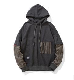 Faux vêtements de sport en Ligne-Vêtements pour hommes Faux Deux Pièces Sweats Pulls Automne Printemps Automne Avec Poche High Street Sports Sweats Tops