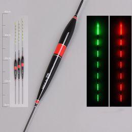2019 flotteur lumineux Nouvelle pêche intelligente Float Night Flotteurs de pêche lumineux Led Light automatiquement rappeler Float avec pile bouton promotion flotteur lumineux