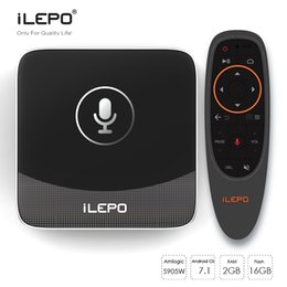 2019 android-tv-media-player Google Sprachsteuerung TV-BOX iLEPO i18 Android 7.1 TV-Box Amlogic S905W 2 GB 16 GB Quad-Core-Media-Player unterstützen WiFi Lan TV-Streaming rabatt android-tv-media-player