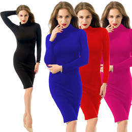4c427a42e roupas femininas vestem roupa Desconto Womens Sexy Maxi Vestidos Bandage  Inverno Reto Algodão Macio Trecho Preto