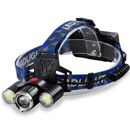 Taschenlampenbereich online-T6 + COB starke Scheinwerfer Außenbeleuchtung LED-Scheinwerfer super helle Long-Range-Ladekopf Scheinwerfer Scheinwerfer Epacket frei