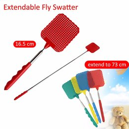 Pest rifiuti all'ingrosso online-1 PZ Swatters Telescopici Fly Killer Fly Swatter In acciaio inox Anti Zanzara Pest Reject Insect Killer All'ingrosso