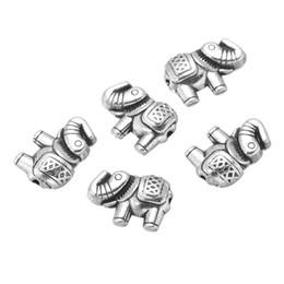 Tailandia encantos de plata online-1000 unids 8 * 12mm DIY joyería de plata tibetana aleación de color Tailandia étnica Lucky animal elefante encantos colgante para la pulsera