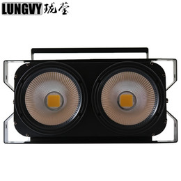 Wholesale Audience Lights - Free Shipping 2*100W White or Warm WHite COB LED Blinder Light Audience Light Stage Studio Light