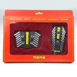 momo Promo Codes - Black Momo Aluminium Non Slip Sport Pedal Brake Pad Covers For Automatic Car 2pcs