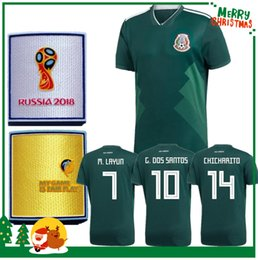 Wholesale Thai Quality Mexico Jerseys - 2018 Mexico home away soccer jersey thai quality 18 G.DOSSANTOS C.VELA Mexico green white shirt CHICHARITO O.PERALTA soccer Jersey