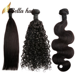 Wholesale Deep Wave Brazilian Hair - Brazilian Hair Bundles Natural Color Straight Body Wave Deep Curly 100 Human Hair Extensions Julienchina Braid-Donor Bella Hair 1 2 3 4pcs
