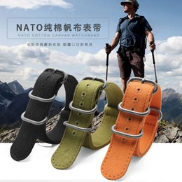 2019 силиконовые наручные браслеты оптом high quality Fabric  watchband for Nato watch Climbing Sports strap fit Zulu watch straps 20 22 24 26mm Coon canvas