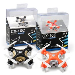Wholesale Kids Helicopter Camera - Free Shipping Drone CX-10C Small 4Axis Camera Drone RC Helicopter Kids Toys