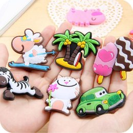 Wholesale Soft Magnets - Creative 3D Refrigerator Magnets Soft Baby Early Childhood Whiteboard Sticker Animals Shape Silicone Fridge Magnet Popular 0 3dc B
