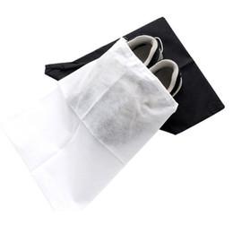 Wholesale Types Flat Shoes - Portable Shoe Storage Bags Washable Non Woven Fabric Drawstring Bag Dust Proof Eco Friendly Organizer Factory Direct Sale 0 54jm B