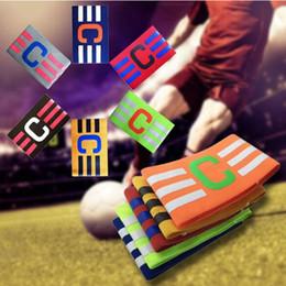 Brassards élastiques en Ligne-7 COULEURS Brassard Match Couleur Pure Bras Bande Capitaine de Football Coller Twining Mix Couleur Nylon Élastique Force GGA293