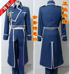 Wholesale Hot Anime Fullmetal Alchemist Roy Mustang Ejército Uniforme conjunto completo Cosplay S XXL